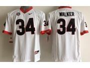 Georgia Bulldogs NCAA Jersey Football Wear NO.34 WALKER Youth Sportswear S~XL