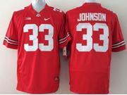 Ohio State Buckeyes NCAA Jersey Football Wear NO.33 JOHNSON Youth Sportswear S~XL