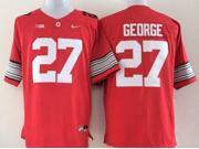 Ohio State Buckeyes NCAA Jersey Football Wear NO.27 GEORGE Youth Sportswear S~XL
