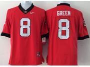 Georgia Bulldogs NCAA Jersey Football Wear NO.8 GREEN Youth Sportswear S~XL