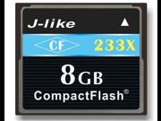 J-Like 8GB 233X Compact Flash (CF) Card (Black)