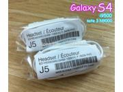 100pcs/lot J5 haedset 3.5 For SAMSUNG GALAXY S3 III S4 I9300 I9500 GALAXY Note N7000 Note2 N7100 HANDSFREE HEADPHONES EARPHONES