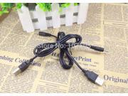 3FT 1M USB cable to DC 2.5 mm charger to usb plug/jack power cord