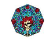 Classic Band Grateful Dead Theme Triple Folding Umbrella!43.5 inch Wide!Perfect as Gift!