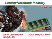 Crucial 16GB (2 x 8G) 204-Pin DDR3 SO-DIMM DDR3L 1333 (PC3L 10600) Laptop Memory Model CT2KIT102464BF1339 (Ship from US) Part#:MP29050001001