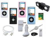12 in 1 Accessory Combo for Apple Ipod Nano 4th Generation 8gb, 16gb Series