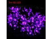 Christmas Props 7m/22.9ft 50 LEDs Solar String Light Peach Blossom Style Lamp Decors New Year Decoration