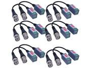New 12 x Mini Camera Video Balun BNC Connector CAT5 Coaxial CCTV UTP Extender Cable