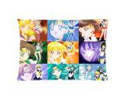 Cartoon Sailor Moon 2 Sides 20X30 Inch Zippered Soft Cotton Pillow Covers Decorative Cushion Covers