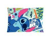 Lilo and Stitch Cartoon Movie 2 Sides 20X30 Inch Zippered Soft Cotton Pillow Covers Decorative Cushion Covers