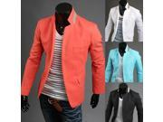 2015 New fashion mens mixed color suits one buttom men fashion casual suits
