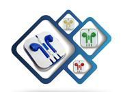 High Quality 3.5mm in-ear headphones headsets earphones for IPHONE 3 4 4s 5 5s  for ipad 2 3 4 mini mp3 mp4