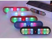 Portable Wireless Bluetooth Speaker LED Bluetooth Loudspeaker Support U-disk and TF card FM Stereo Speakers For iphone Samsung White Red Pink Black Blue Color