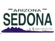 AZ Arizona Sedona State Background Aluminum License Plate - SB-LP1063