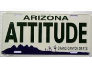 AZ Arizona Attitude State Background Aluminum License Plate - SB-LP1089