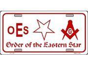Order of the Eastern Star Aluminum License Plate - SB-LP1176