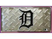 Detroit Tigers Embossed Diamond MLB Aluminum License Plate - SB-LP1220