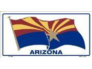 Arizona Waving Flag Aluminum License Plate - SB-LP1249
