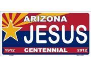 Arizona Centennial JESUS Aluminum License Plate - SB-LP1807