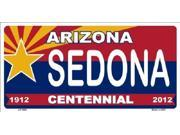 Arizona Centennial SEDONA Aluminum License Plate - SB-LP1860