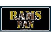 St Louis Rams Fan NFL Aluminum License Plate - SB-LP1997