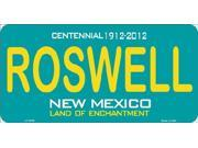 ROSWELL New Mexico (Teal) State Background Aluminum License Plate - SB-LP2788