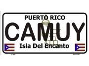 CAMUY Puerto Rico State Background Aluminum License Plate - SB-LP2823
