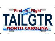 TAILGTR North Carolina State Background Aluminum License Plate - SB-LP3685