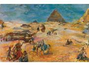 Linen Canvas ,the Replica Art DecorativeCanvas Prints of oil painting 'Oskar Kokoschka,Pyramids at Gizeh,1929', 24x36 inch / 61x92 cm is best for Study decoration and Home gallery art and Gifts