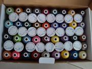 High quality 61 Brother colors machine polyester embroidery thread +1000m/mini-king spool