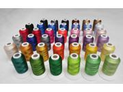 NEW ARRIVAL Simthread 40 colors embroidery machine sewing thread 500m each miniking spool