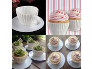 4 Pcs Silicone Cupcake Mold Cake Muffin Baking Mould Home Maker Chocolate Tea Cup White