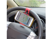 Car Steering Wheel Mount Holder Stand Rubber Cradle Band For iPhone 6 6 Plus 5S samsung Note 4 S5 GPS Universal