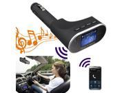Bluetooth Wireless LCD Car Kit MP3 Player FM Transmitter Modulator Remote USB SD Car Reader Hands Free for Phone