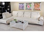 Quilted Embroidery Sectional Sofa Couch Slipcovers Furniture Protector Cotton 90*240cm