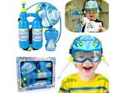 Plastic Backpack Water Pistols Squirt Set Summer Beach Toys Kids Child Boys Gift