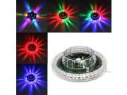 8W 48 LED Mini Voice-Activated / Auto Rotating DJ Party Stage Light Bar Disco Lighting Lamp Sunflower Shining UFO LED Lights