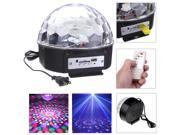 12W 6 Colors RGB LED MP3 DJ Stage Light Club Pub Disco Party Crystal Magic Ball Stage Laser KTV Effect Light Lamp Lighting 120°