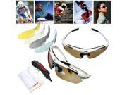Professional Polarized Cycling Driving Glasses Bike Outdoor Sports Sunglasses UV400 5 PC Lens