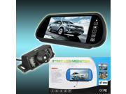 1X Wireless 7 Inch LCD Touch Screen Remote Control 6 LED Car Rear View Backup Monitor & IR Camera Night Vision New