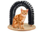 Durable Purrfect Pet Cat Kitty Arch Bristles Kitten Self-Groomer Massager Scratcher Catnip Toy