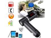 4.2A Bluetooth Stereo Car Kit FM Transmitter USB Charger MP3 LCD For Iphone 6 Sumsung