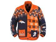 Denver Broncos NFL Adult Ugly Cardigan Sweater X-Large