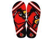 Louisville Cardinals Unisex Big Logo Flip Flops Medium (W 9-10/M 7-8)