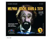 Wolfman Stache Moustache With Teeth Costume Accessory One Size