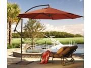 10' Offset Cantilever Patio Umbrella - Terracotta