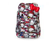 Backpack - Hello Kitty - All Stars Print Face With Bow New Gifts sanbk0152