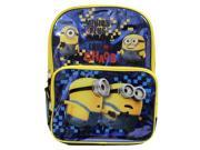 """Backpack - Despicable Me - Minions 16"""" Blue New School Bag 109701"""