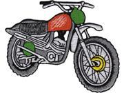 Patch - Automoblies - Red Dirt Bike Iron On Gifts New Licensed p-3850