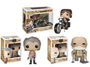Funko The Walking Dead Exclusive - Hershel Greene, Carol Peletier, Daryl Dixon on Chopper Bundle
